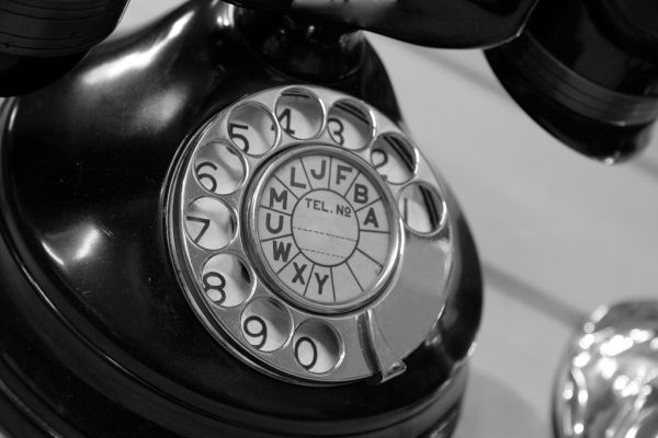 Vintage rotary phone images - Antique phone black